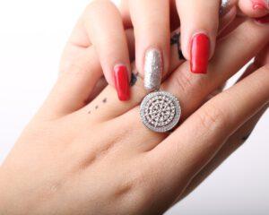2079.01-טבעת כסף מעוצבת