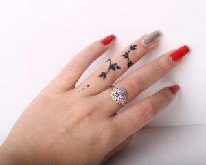 AR1003-טבעת פרח סגול