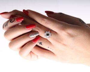 BS1105R-טבעת פרח שחור